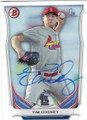 TIM COONEY ST LOUIS CARDINALS AUTOGRAPHED ROOKIE BASEBALL CARD #100515E
