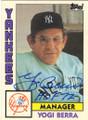 YOGI BERRA NEW YORK YANKEES AUTOGRAPHED VINTAGE BASEBALL CARD #100715B