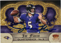 JOE FLACCO BALTIMORE RAVENS AUTOGRAPHED FOOTBALL CARD #100814D