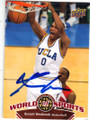 RUSSELL WESTBROOK UCLA BRUINS AUTOGRAPHED BASKETBALL CARD #100815E