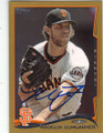 MADISON BUMGARNER SAN FRANCISCO GIANTS AUTOGRAPHED & NUMBERED BASEBALL CARD #101215A