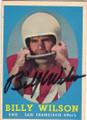 BILLY WILSON SAN FRANCISCO 49ers AUTOGRAPHED VINTAGE FOOTBALL CARD #101215B