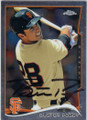 BUSTER POSEY SAN FRANCISCO GIANTS AUTOGRAPHED BASEBALL CARD #101215E