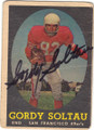 GORDY SOLTAU SAN FRANCISCO 49ers AUTOGRAPHED VINTAGE FOOTBALL CARD #101215F