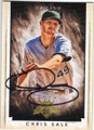 CHRIS SALE CHICAGO WHITE SOX AUTOGRAPHED BASEBALL CARD #101315A