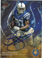 REGGIE WAYNE INDIANAPOLIS COLTS AUTOGRAPHED FOOTBALL CARD #101315G
