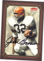 JIM BROWN CLEVELAND BROWNS AUTOGRAPHED FOOTBALL CARD #101515H