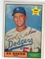 ED RAKOW LOS ANGELES DODGERA AUTOGRAPHED VINTAGE BASEBALL CARD #111415A