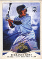 TERRANCE GORE KANSAS CITY ROYALS AUTOGRAPHED ROOKIE BASEBALL CARD #111715A