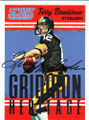 TERRY BRADSHAW PITTSBURGH STEELERS AUTOGRAPHED FOOTBALL CARD #111915A