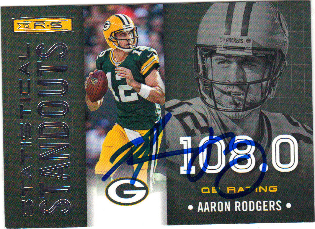 outlet store sale 53d68 b64cf AARON RODGERS GREEN BAY PACKERS AUTOGRAPHED FOOTBALL CARD #112015A