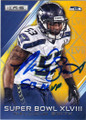 MALCOLM SMITH SEATTLE SEAHAWKS AUTOGRAPHED FOOTBALL CARD #112015D