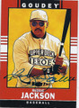 REGGIE JACKSON OAKLAND ATHLETICS AUTOGRAPHED BASEBALL CARD #120115F