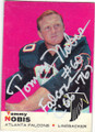 TOMMY NOBIS STLANTA FALCONS AUTOGRAPHED VINTAGE FOOTBALL CARD #120315F