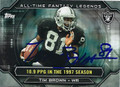 TIM BROWN OAKLAND RAIDERS AUTOGRAPHED FOOTBALL CARD #120415C