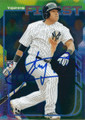 YANGERVIS SOLARTE NEW YORK YANKEES AUTOGRAPHED ROOKIE BASEBALL CARD #120415F