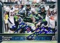 MARSHAWN LYNCH SEATTLE SEAHAWKS AUTOGRAPHED FOOTBALL CARD #120415J