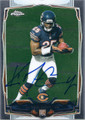 Ka'DEEM CAREY CHICAGO BEARS AUTOGRAPHED ROOKIE FOOTBALL CARD #120515D