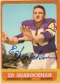 ED SHAROCKMAN MINNESOTA VIKINGS AUTOGRAPHED VINTAGE ROOKIE FOOTBALL CARD #120515F