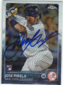 JOSE PIRELA NEW YORK YANKEES AUTOGRAPHED ROOKIE BASEBALL CARD #120715D