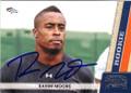 RAHIM MOORE DENVER BRONCOS AUTOGRAPHED ROOKIE FOOTBALL CARD #120715H