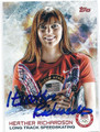 HEATHER RICHARDSON AUTOGRAPHED OLYMPIC SPEEDSKATING CARD #120815C