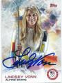 LINDSEY VONN OLYMPIC ALPINE SKIIER AUTOGRAPHED CARD #121015C