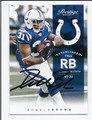 DONALD BROWN INDIANAPOLIS COLTS AUTOGRAPHED FOOTBALL CARD #121015D