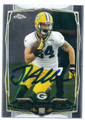 JARED ABBREDERIS GREEN BAY PACKERS AUTOGRAPHED ROOKIE FOOTBALL CARD #121015J
