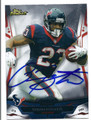 ARIAN FOSTER HOUSTON TEXANS AUTOGRAPHED FOOTBALL CARD #121115H