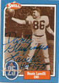 DANTE LAVELLI CLEVELAND BROWNS AUTOGRAPHED FOOTBALL CARD #121515C