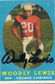"WOODLEY LEWIS CHICAGO CARDINALS AUTOGRAPHED VINTAGE ""ERROR"" FOOTBALL CARD #121815H"