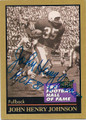 JOHN HENRY JOHNSON SAN FRANCISCO 49ers AUTOGRAPHED FOOTBALL CARD #122415A