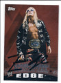 EDGE AUTOGRAPHED WRESTLING CARD #122415F