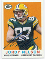 JORDY NELSON GREEN BAY PACKERS AUTOGRAPHED FOOTBALL CARD #122415J