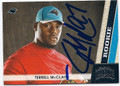 TERRELL McCLAIN CAROLINA PANTHERS AUTOGRAPHED ROOKIE FOOTBALL CARD #122815B