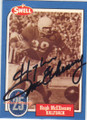 HUGH McELHENNY SAN FRANCISCO 49ers AUTOGRAPHED VINTAGE FOOTBALL CARD #122815D