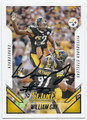 WILLIAM GAY PITTSBURGH STEELERS AUTOGRAPHED FOOTBALL CARD #122915E