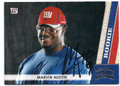 MARVIN AUSTIN NEW YORK GIANTS AUTOGRAPHED ROOKIE FOOTBALL CARD #122915J