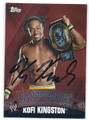 KOFI KINGSTON AUTOGRAPHED WRESTLING CARD #123015C