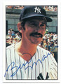 BILLY MARTIN NEW YORK YANKEES AUTOGRAPHED VINTAGE BASEBALL CARD #123015H