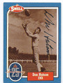 DON HUTSON GREEN BAY PACKERS AUTOGRAPHED VINTAGE FOOTBALL CARD #123115E