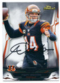 ANDY DALTON CINCINNATI BENGALS AUTOGRAPHED FOOTBALL CARD #10216C