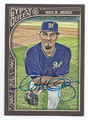MATT GARZA MILWAUKEE BREWERS AUTOGRAPHED BASEBALL CARD #10216D