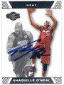 SHAQUILLE O'NEAL MIAMI HEAT AUTOGRAPHED BASKETBALL CARD #10416A