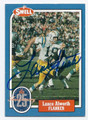 LANCE ALWORTH SAN DIEGO CHARGERS AUTOGRAPHED VINTAGE FOOTBALL CARD #10516B