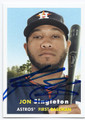 JON SINGLETON HOUSTON ASTROS AUTOGRAPHED BASEBALL CARD #10516D