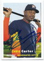 CHRIS CARTER HOUSTON ASTROS AUTOGRAPHED BASEBALL CARD #10616B