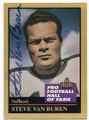 STEVE VAN BUREN PHILADELPHIA EAGLES AUTOGRAPHED FOOTBALL CARD #10616C