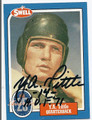 YA TITTLE HALL OF FAME AUTOGRAPHED VINTAGE FOOTBALL CARD #10616D